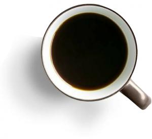 Sort-kaffe-kop